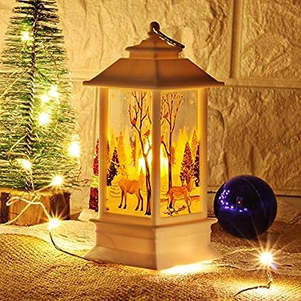 String Lights Holiday & Seasonal Décor Christmas Hanging Night Light Snowman Night Light Santa Claus Lantern Xmas Decor