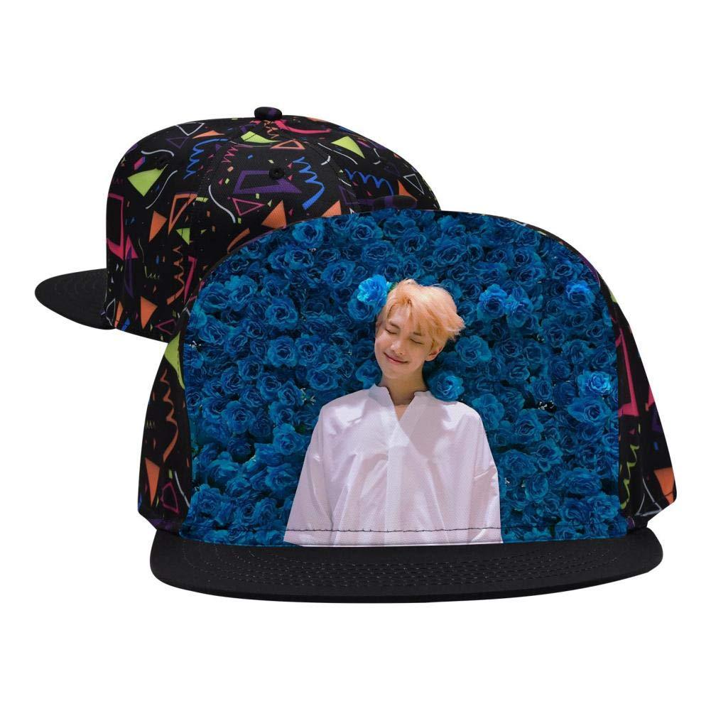 BEKAI Unisex B-T-S Love Yourself Adjustable Brimbill Flats Hat for Mens//Womens Hip Hop Caps
