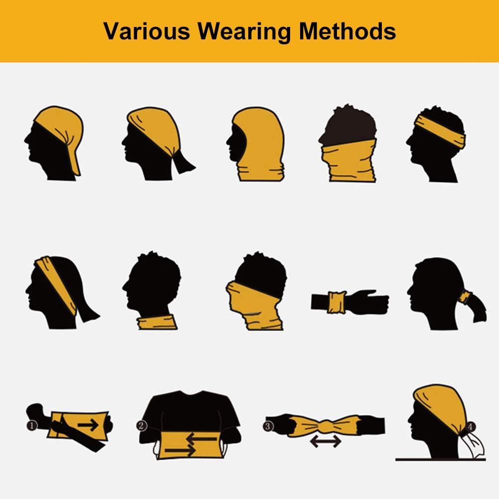 Gloral HIF Bandana Face Mask Headwraps Headscarf Outdoor Multifunctional Seamless Headwear