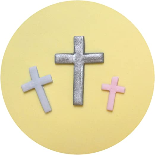 SILICONE HOLLY COMMUNION BAPTISM mold CROSS MOULD CHRISTENING PENDANT