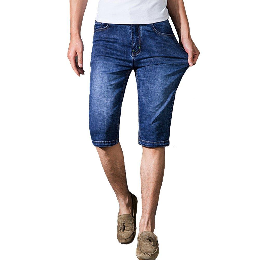 Jean PwqB5T Court Jeans Denim Élasticité Homme Shorts Short Coton Chiyeee rnwRqrz7