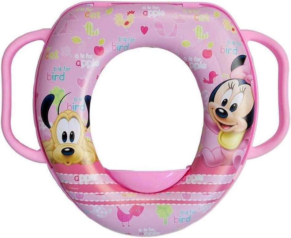 Asiento de inodoro infantil con asa Brigamo Minnie Mouse