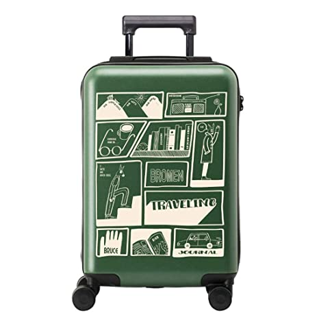b909b04ab4d23 Amazon.com: YangMi Trolley case- Student Creative Frosted Graffiti ...