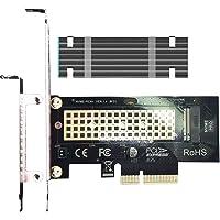glotrends PCIE M.2-adapter NVMe-kort med heltäckande kylfläns i aluminium för stationär dator, PCIE GEN3 full hastighet…