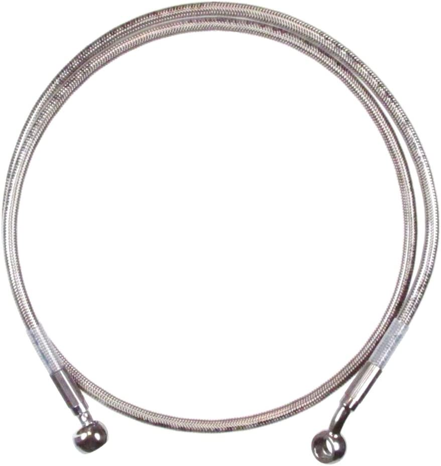 HC-52-10 Hill Country Customs Front 6 Single Disc Stainless Braid Brake Line 1997-2013 Harley-Davidson Touring without ABS brakes