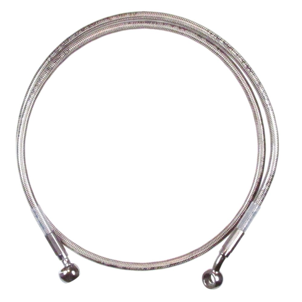 Hill Country Customs Front +4'' Single Disc Stainless Braid Brake Line 1997-2013 Harley-Davidson Touring without ABS brakes - HC-50-10 by Hill Country Custom Cycles