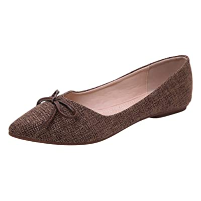 AIni Souliers Plats pour Femmes, Bouche Peu Profonde, Bow Soft Bottom Souliers Simple Ples, Chaussures pour Dames Sauvages-Open Plage Chaussures Chaussures et Sacs