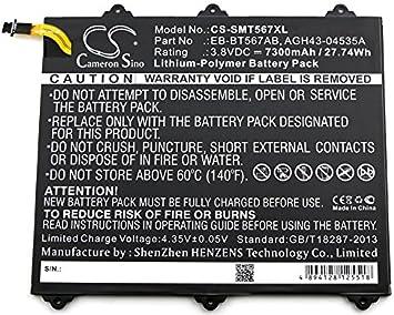 SM-T560NU HENZENS 7300mAh Li-Polymer Battery Replacement EB-BT567ABA for Samsung SM-T567 Galaxy Tab E 9.6 XLTE SM-T567V