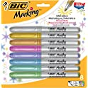 BIC Marking Permanent Marker Metallic Assorted Colors 8-Count