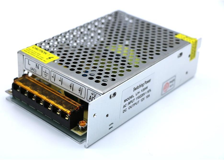 Transformador de Voltage Alimentación de Interruptor para Tira de LED AC 110V / 220V a DC 24V 5A 120W IP20
