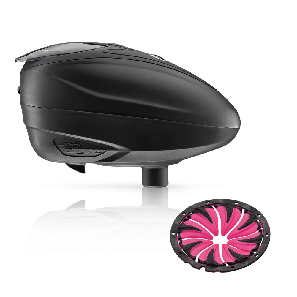 Dye LT-R Electronic Paintball Loader (Black with Pink Quick Feed) by Dye