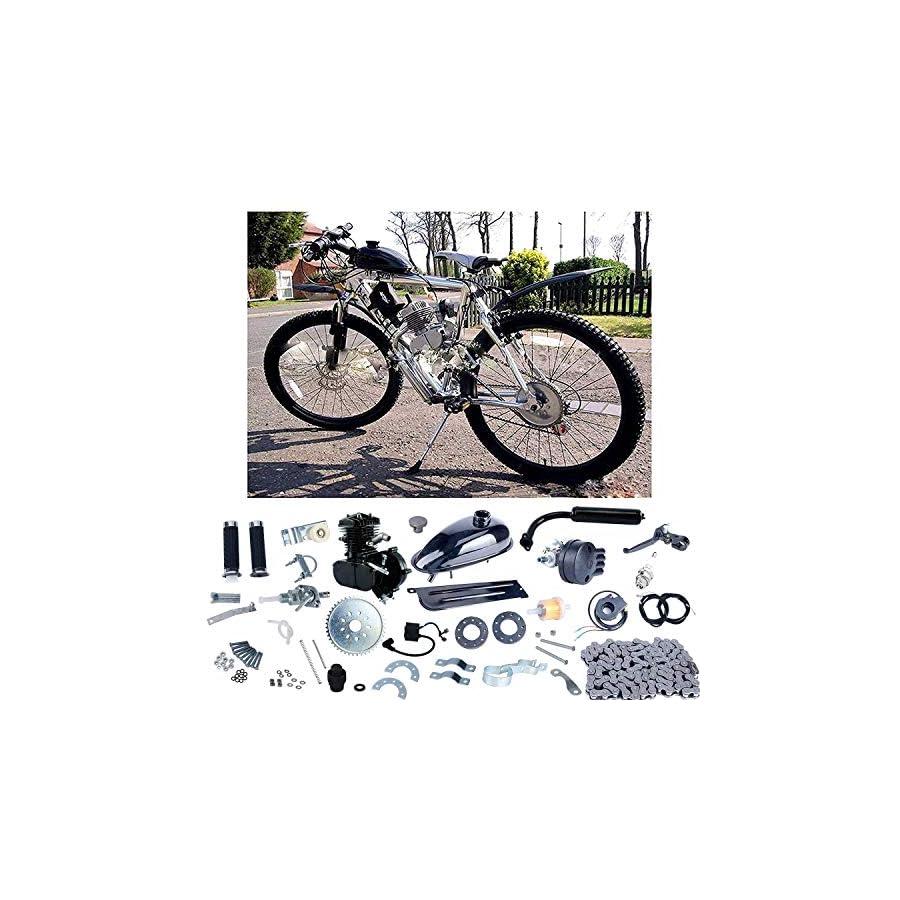 YaeCCC Upgraded 80cc 2 Stroke Motor Engine Kit Gas Motorized Bicycle Bike Black