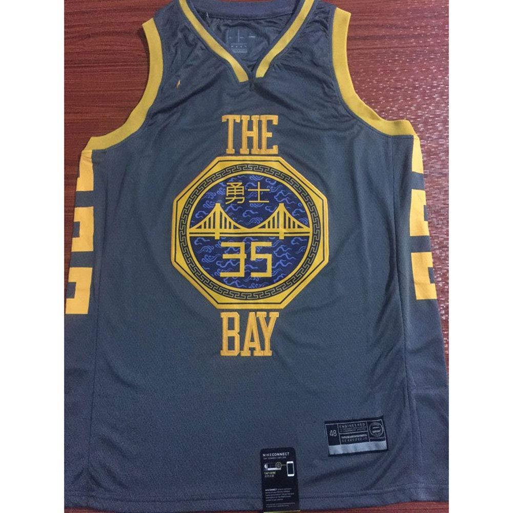 WAZ Camiseta Baloncesto Warriors City Edition # 30 Curry # 35 Algod/óN De Los Hombres De La NBA De Los Hombres De Durant Sin Mangas Chaleco Deportivo,A,S