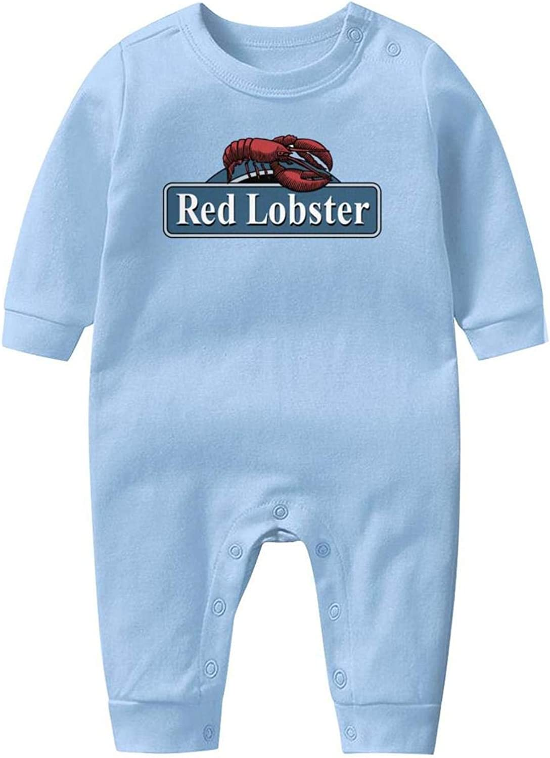 Red-Lobster-Logo-Sign Baby Boys Girls Long Sleeve Baby Onesie Cute Baby Clothes