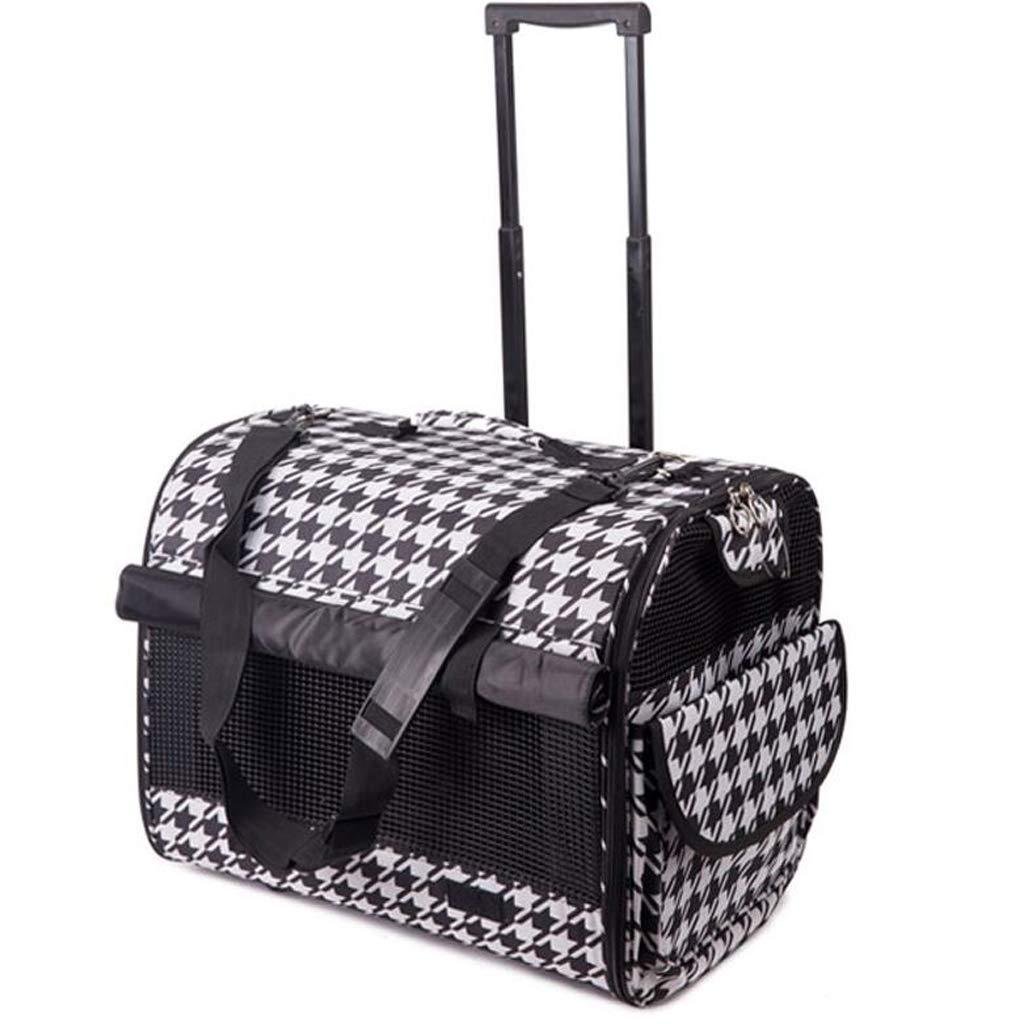 Pet bag Dog Bag Trolley Bag Reinforcement Long Out Carrying Bag Pet Trolley Bag Pet Suitcase Lostgaming