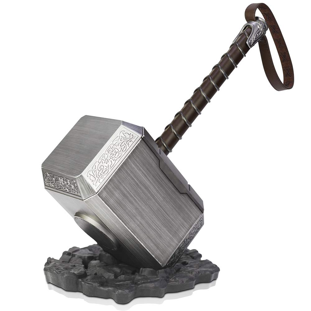 ZYER Thor's Hammer with Base, 1:1 Halloween Cosplay Costume,Movie Cosplay Props The Thor Battle Hammer of Avengers New Men's Life Size Hammer