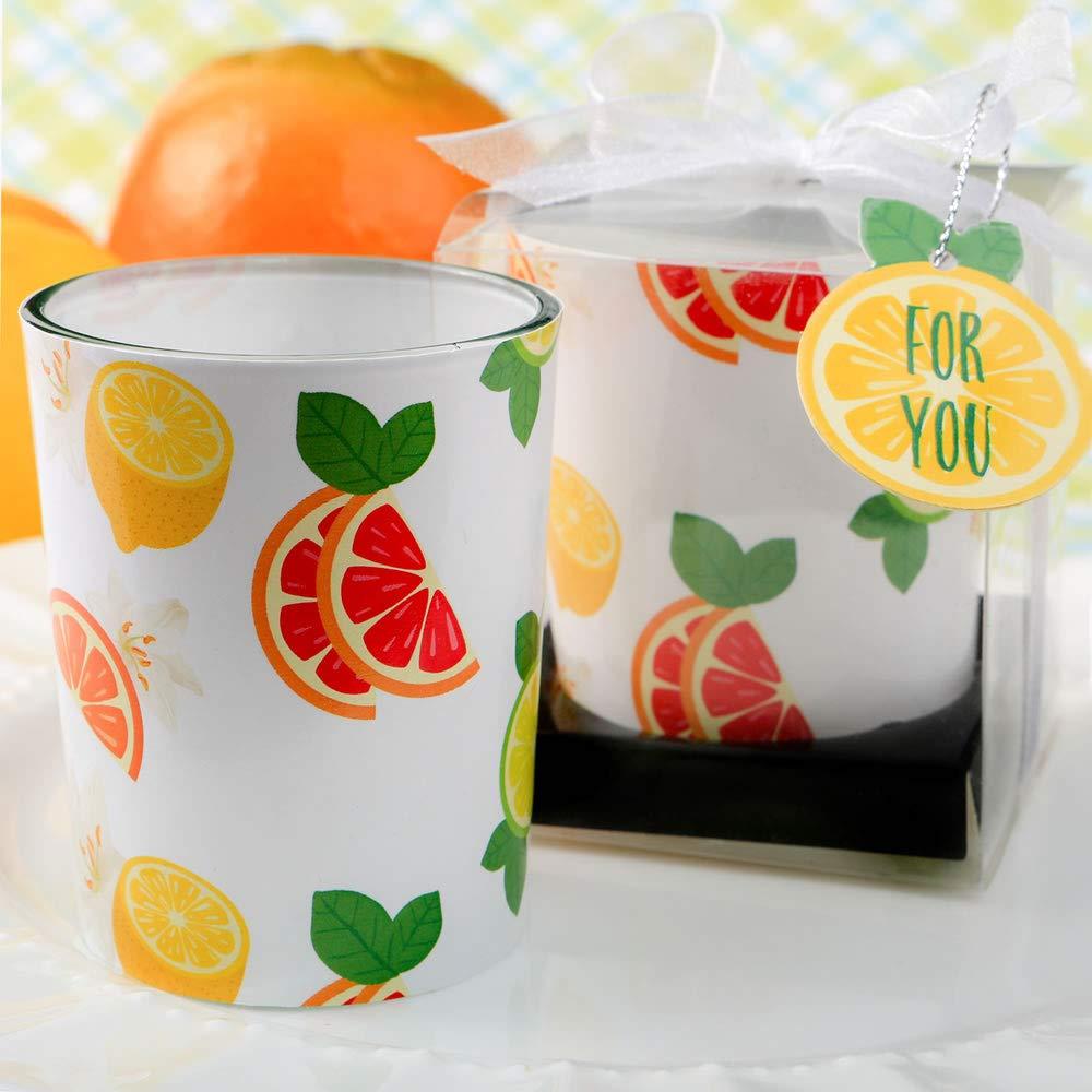 FavorOnline Citrus Design Colorful Tropical Votive Candles, 144