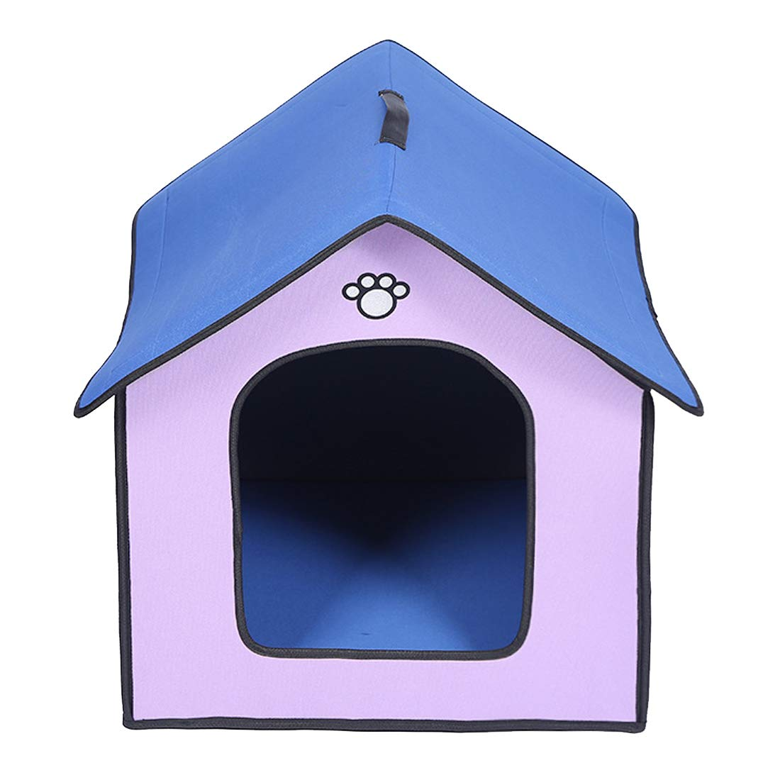 B Zhyaj Large Dog Kennel Outdoor Dog House For Large Dogs Outdoor Dog Kennel Rainproof And Waterproof Cool Breathable Foldable Resistant Bite Reinforced Corner Non-Toxic And Tasteless Purple,B