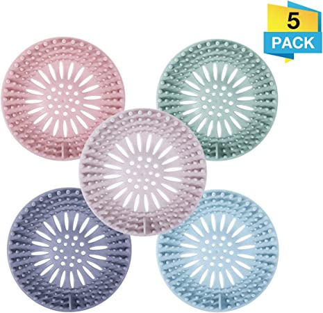 Hair Catcher Durable Silicone Hair Stopper Shower Drain Covers Easy to Install