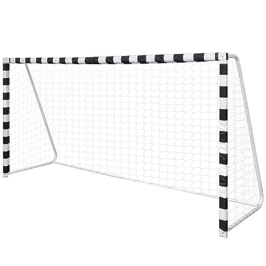 1 opinioni per vidaXL Porta per terreno da calcio, rete e pali acciaio 300 x 90 x 160 cm