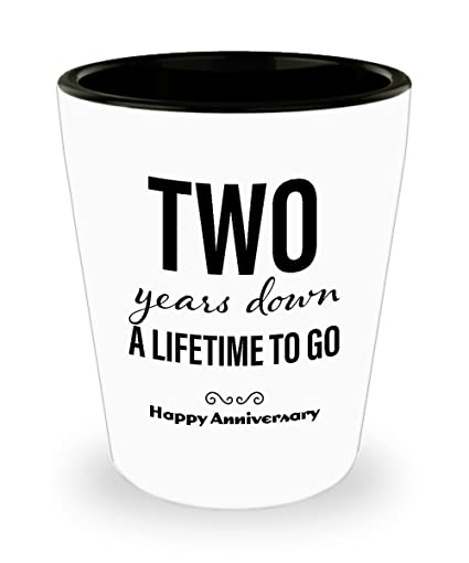 Amazon 2nd Anniversary Gifts For Him Shot Glass Wedding