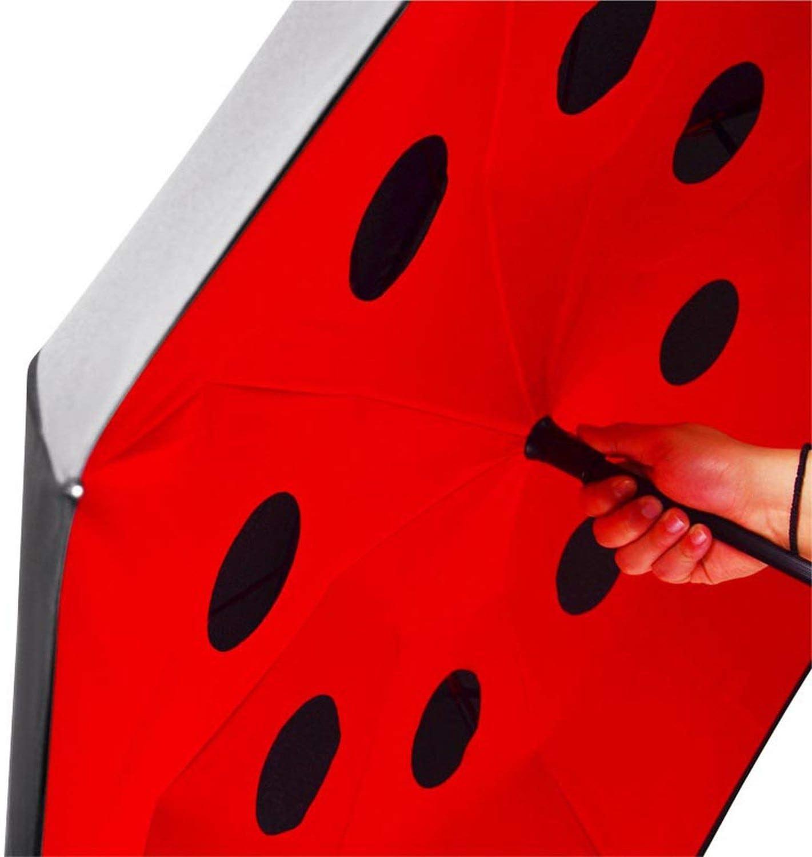 Folding Long Shank Double Layer Inverted Umbrella Windproof Reverse C Hook Umbrella Reverse Umbrellas For Women,4