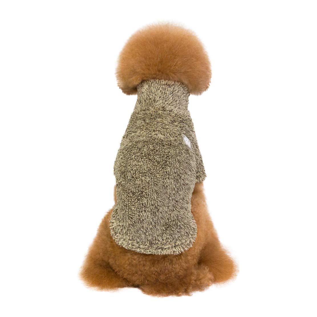 Moodn Cane Costume Abbigliamento Autunnale e Invernale Classico Abbigliamento Piccola Taglia Carino Comfort Fit Eleganti Animali Domestici Cucciolo Durevole Vestiti di Mantieni Caldo Peluche