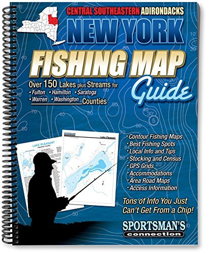 Central Southeastern Adirondacks New York Fishing Map Guide by Sportsman's Connection (2011-04-01)