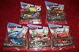 Set Of (5) Pixar Cars Race Team Mater/Jeff Gorvette/Francesco Bernoulli/Raoul Caroule/Lightening McQueen