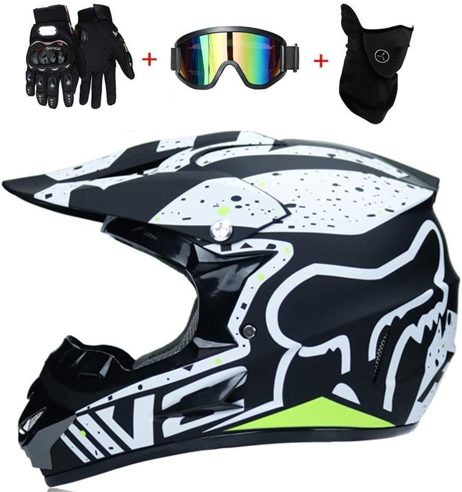 Nnyy Motorrad Motocross Motorrad Helme Und Handschuhe Und Schutzbrille Windschutzscheibe Standard D O T Kinder Atv Quad Helm Go Kart Fox Sport Freizeit