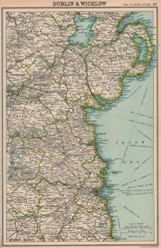 Amazoncom IRELAND EAST COAST Dublin Meath Louth Down Armagh - Old maps of dublin