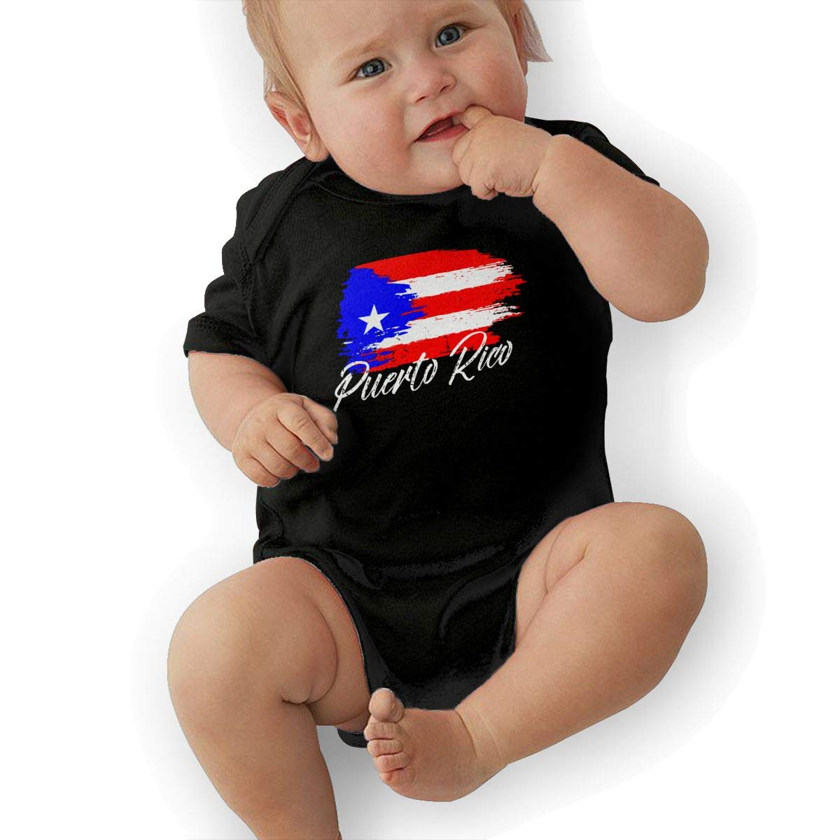 Puerto Rico Flag Toddler Baby Girl Boy Romper Jumpsuit Outfit Short Sleeve Bodysuit Tops Clothes