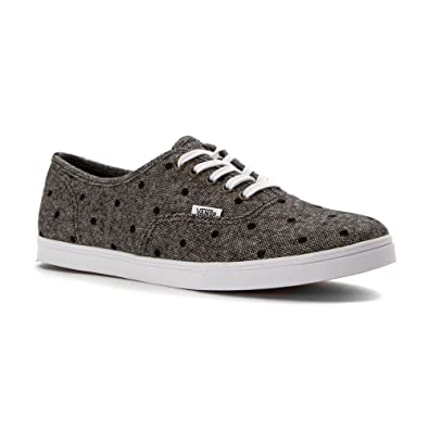 Vans Unisex Authentic Lo Pro Sneaker Navy/True White Tweed Dots Size 7.5 M  US