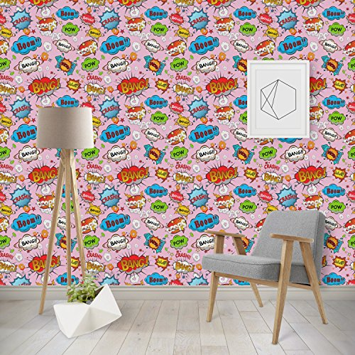 Woman Superhero Wallpaper & Surface Covering (Peel & Stick - Repositionable) by RNK Shops