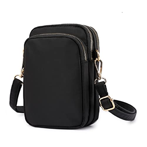 5b46acf7dc72 Cell Phone Purse Waterproof Nylon Small Crossbody Shoulder Bag Smartphone  Holder Wallet For Women
