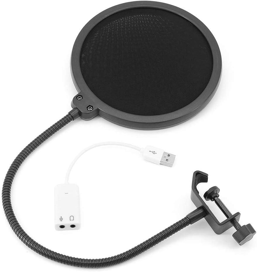 ShawFly Bm900 Kit de micr/ófono de suspensi/ón profesional Transmisi/ón en vivo Transmisi/ón de radio Conjunto de micr/ófono de condensador de grabaci/ón Negro