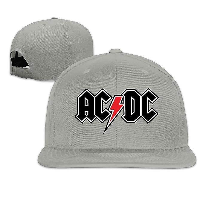 AC DC Logo Adjustable.Fitted Flat Hat Baseball Cap  Amazon.ca ... 76ea90298f4