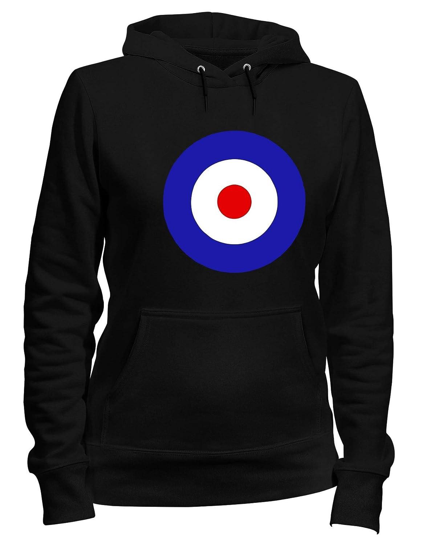 Speed Shirt Felpa Donna Cappuccio Nero OLDENG00586 MOD Target