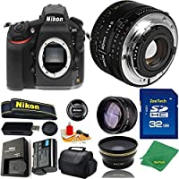 Great Value Bundle for D810 DSLR – 50MM 1.8D + 32GB Memory + Wide Angle + Telephoto Lens + Case