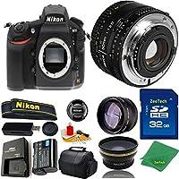 Great Value Bundle for D810 DSLR – 50MM 1.8D + 32GB Memory + Wide Angle + Telephoto Lens + Case