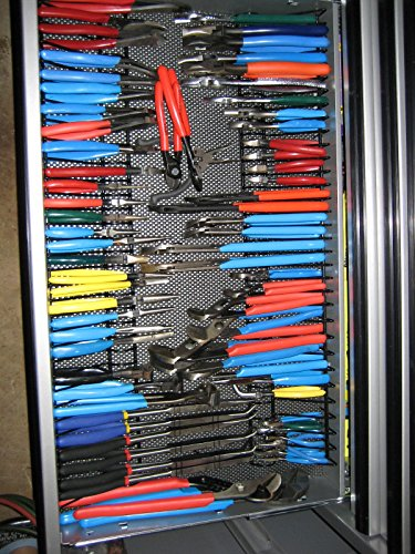 pliers rack organizer for tool drawer storage new ebay. Black Bedroom Furniture Sets. Home Design Ideas