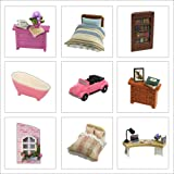 Cutebee Dollhouse Miniature with Furniture,Rotating DIY Miniature Dollhouse kit Plus Dust Proof and Music Movement, 1:24 Scale Creative Room Idea