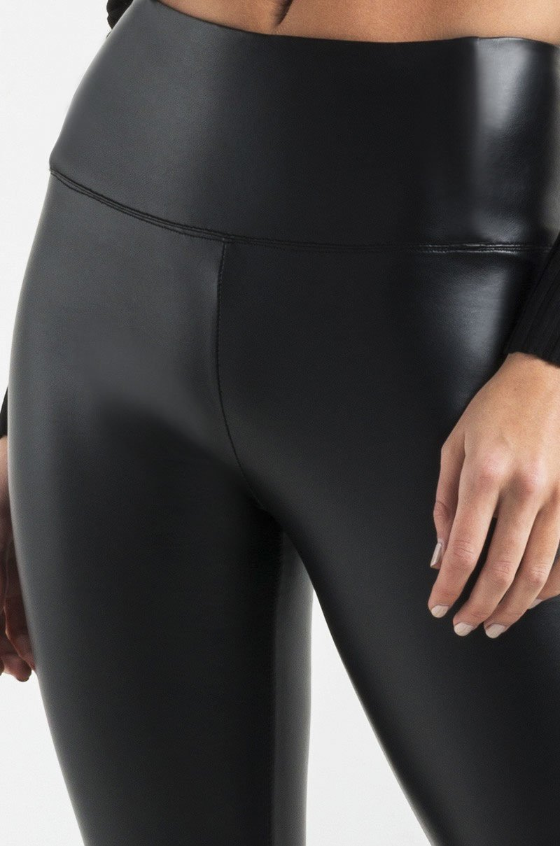 Sexy Black Faux High Waisted Leather Leggings Pants for Womens&Girls Petite/Plus Size by Retro (M-US 8-10 /Waist 28''-30'' Hips37-41'', High Waisted) by Retro Design (Image #4)