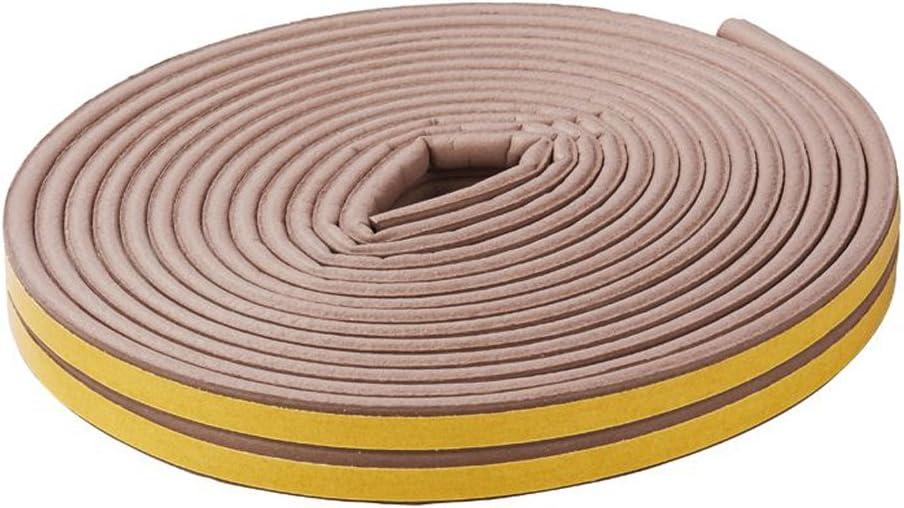 4 x 5 m Gummidichtung E-Profil 2-3,5 mm Wei/ß oder Braun w/ählbar Dichtband D/ämmband Braun