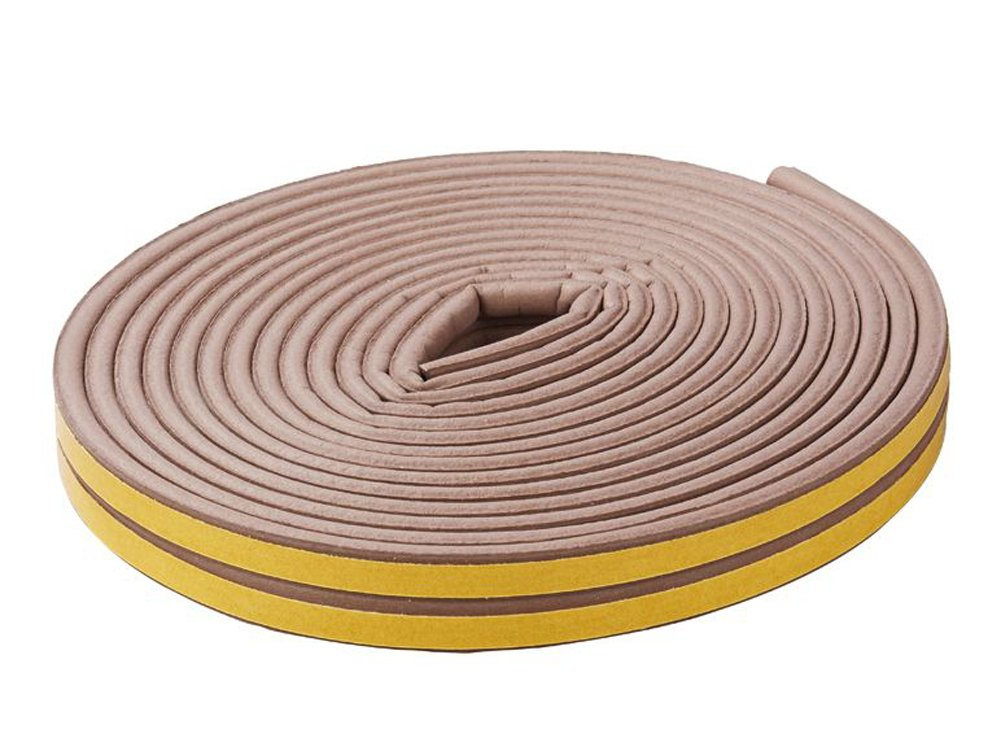 Choice of 4: 2 – 3 mm x 5 m Rubber Gap Seal E-Profile White or Brown Sealing Tape Insulating Tape