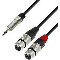 Adam Hall K4YWFF0300 - Cable XLR a mini