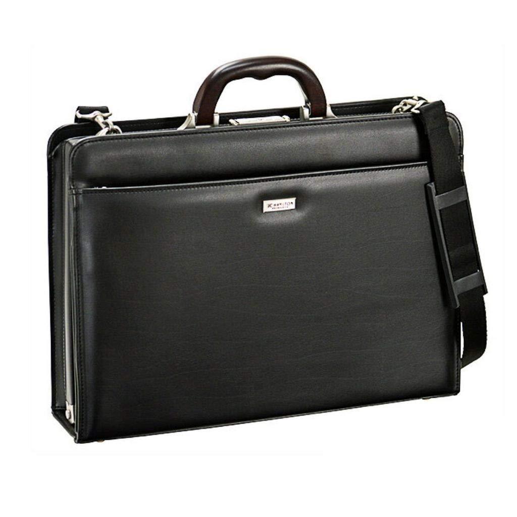 [和製 鞄] ビジネスバッグ 高級 天然木取手 B4 ファイル対応 錠前 メンズ 収納力 バッグ B07N6CQPSG