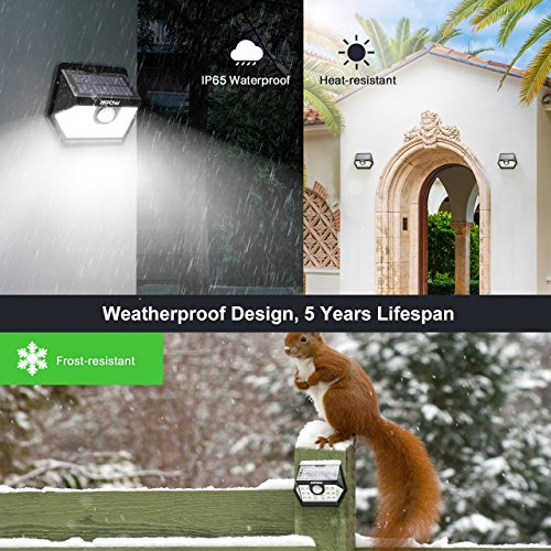 Mpow Solar Lights Outdoor, Bright 20 LED Motion Activated Lights with Wide Angle Lighting, IP65 Waterproof Wireless Security Lights for Garage Front Door Garden Pathway - 2 Pack (Auto On/Off) by Mpow (Image #3)