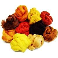 Russet marrón lana de oveja merina compartimentos/tops. Una