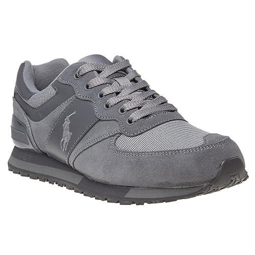 Polo Ralph Lauren Slaton Pony Hombre Zapatillas Gris: Amazon.es: Zapatos y complementos